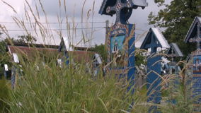 Merry Cemetery, Sapanta stock footage