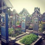 The Merry Cemetery stock photos