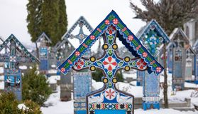 The Merry Cemetery winter time Royalty Free Stock Photos