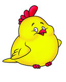 Merry chicken yellow cartoon Royalty Free Stock Image