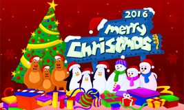 2016 merry chirstmas. Chirstmas 2016 gifts stock illustration