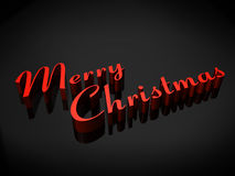 Merry Chistmas. This is a hi-resolution rendering created in Autodesk Maya. Romantic Merry Christmas background Stock Photography