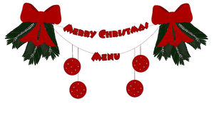 Merry Chistmas. Merry Christmas - red menu decoration Royalty Free Stock Photo