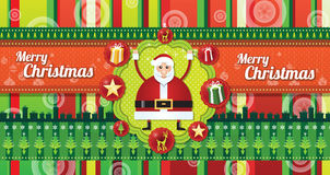 Merry Chistmas srtripes Stock Photography