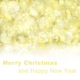 Merry chrismas background. Chrismas background with golden beams and sparkles and white ccopy space Royalty Free Stock Photo