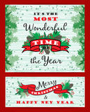 Merry Chrismas background with Typography. Royalty Free Stock Images
