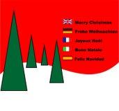 Merry Chrismas card Stock Photos