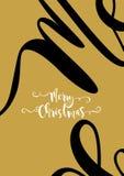 Merry Chrismas Card Gold Stock Photos