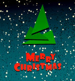 Merry Chrismas festive creative card Royalty Free Stock Photos