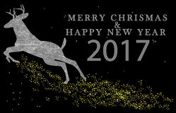 MERRY CHRISMAS AND HAPPY NEW YEAR 2017 Royalty Free Stock Photo