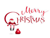 Merry Chrismas vector lettering design template Stock Photos