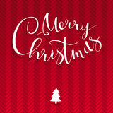 Merry Chrismas vector lettering design template Royalty Free Stock Photo