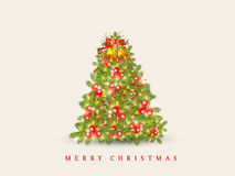 Merry Chrismtas celebration with Holly Tree. Stock Photography