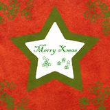 Merry Christamas card Royalty Free Stock Image