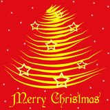 Merry Christmans Gold&Stars Royalty Free Stock Photography