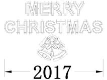 Merry Christmas 2017 – Blueprint Isolated Stock Images
