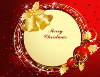 Merry Christmas. Background with bells Stock Photography