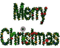 Merry Christmas. Colorful Christmas greeting Royalty Free Stock Images