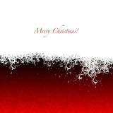 Merry Christmas. Christmas snow background. Holiday, winter greeting card Stock Photo