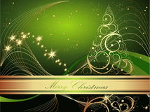 Merry Christmas. Gold and green Merry Christmas Stock Photos
