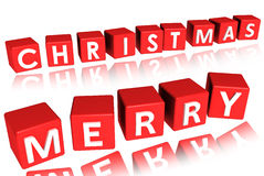 Merry christmas. Text on a white background Stock Photo