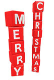 Merry christmas. Illustration of text for christmas Stock Image