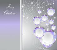 Merry Christmas. Violet Merry Christmas background with stars Royalty Free Stock Photos
