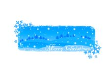 Merry Christmas!. Blue Christmas / New Year illustration background / card Stock Image