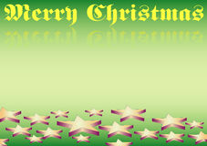 Merry christmas. A gradient background with 3-D-Stars at the bottom and christmas-wishes in the top Royalty Free Stock Photo