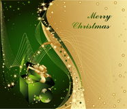 Merry Christmas. Background with gift box Stock Photography