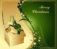 Merry Christmas. Background with gift box Stock Photos