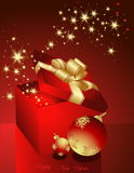 Merry Christmas. Background with gift box Stock Images