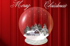 Merry christmas. Decorations, christmas, xmas, trees, ornaments, holiday, winter, celebrations royalty free illustration