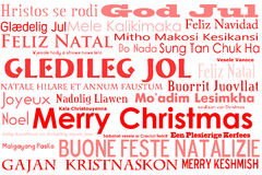 Merry Christmas. A merry christmas tag cloud with many different languages saying merry christmas Stock Photo