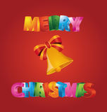 Merry Christmas. Illustration which can be used for Christmas card Royalty Free Stock Images