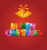 Merry Christmas. Illustration which can be used as Christmas card Royalty Free Stock Photo