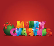 Merry Christmas. Illustration which can be use as Christmas card Stock Photo