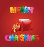 Merry Christmas. Illustration which can be used as Christmas card Royalty Free Stock Photos