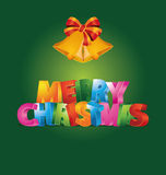 Merry Christmas. Vector illustration which can be used as Christmas card Stock Image