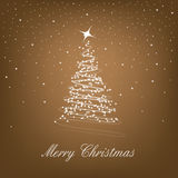 Merry christmas. On the brown background Royalty Free Stock Photo