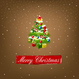 Merry christmas. On the brown background Stock Images