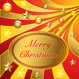 Merry Christmas. Illustration Merry Christmas and a Happy New Year royalty free illustration