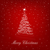 Merry christmas. On the red background Royalty Free Stock Photography