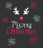 Merry Christmas. Greetings, vector illustration Royalty Free Stock Photography