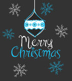 Merry Christmas. Greetings, vector illustration Royalty Free Stock Image