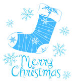 Merry Christmas. Greetings, vector illustration Stock Images