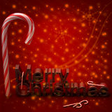 Merry Christmas. 3d illustrated christmas geeting background Royalty Free Illustration