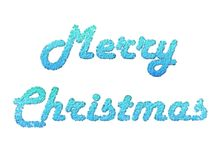 Merry Christmas 2. Text of merry Christmas made of snowflakes stock illustration