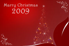 Merry Christmas 2009 Stock Image