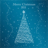 Merry christmas 2011. And blue background Royalty Free Stock Photos